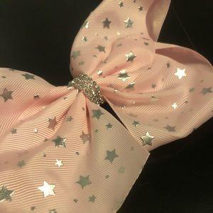 JoJo Shining Stars Baby Pink Sequin Bow